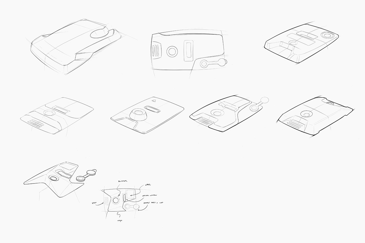 Medical device industrial design sketching